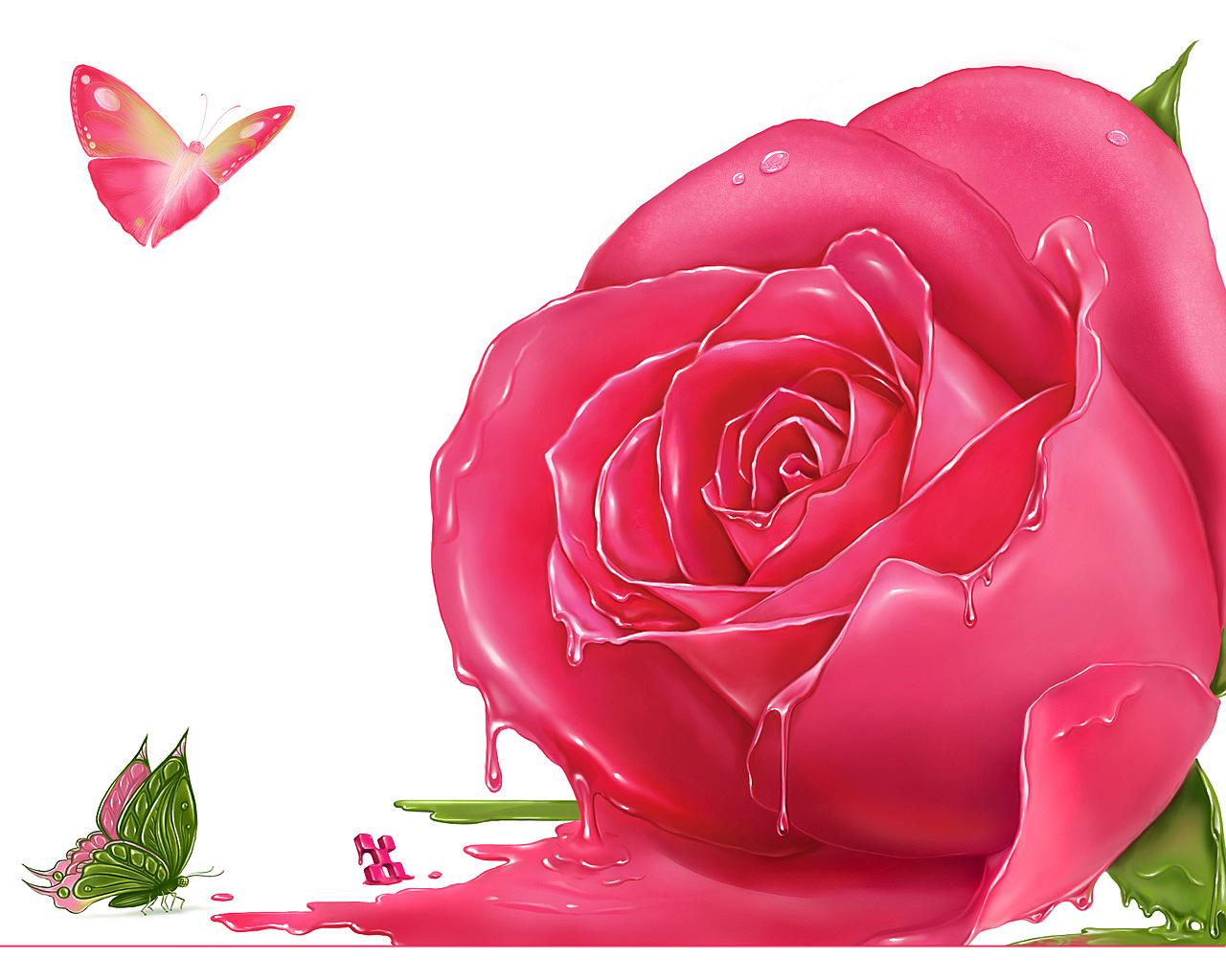 Animated Pink Flowers Comousar